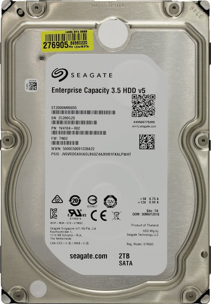 Жесткий диск Seagate Enterprise Capacity (ST2000NM0055) 2000 Gb