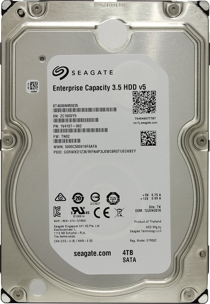Жесткий диск Seagate Enterprise Capacity (ST4000NM0035) 4000Gb