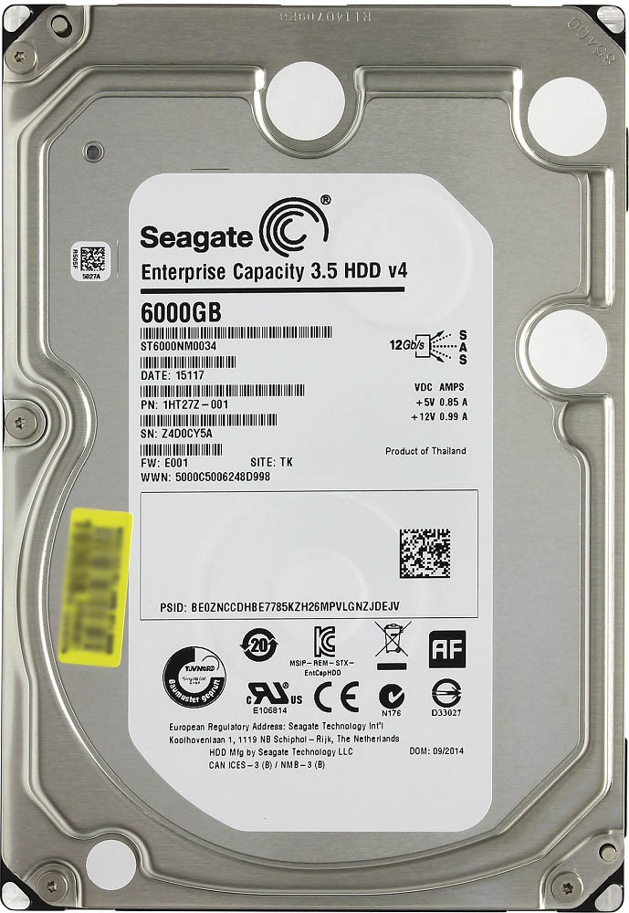 Жесткий диск Seagate Enterprise Capacity (ST6000NM0034) 6000Gb