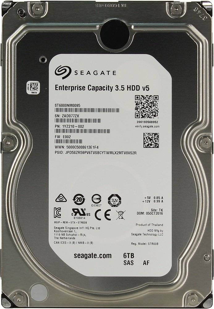 Жесткий диск Seagate Enterprise Capacity (ST6000NM0095) 6000Gb