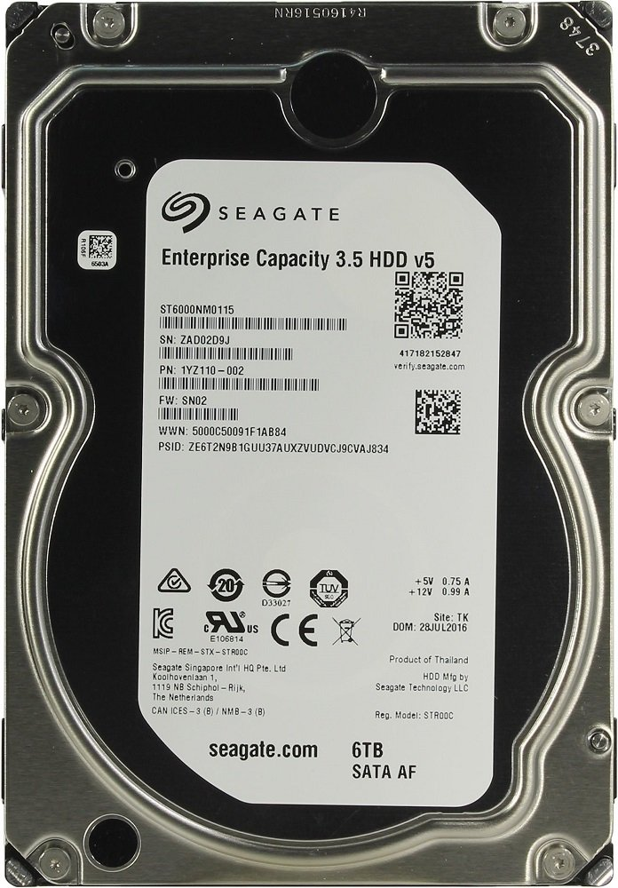 Жесткий диск Seagate Enterprise Capacity (ST6000NM0115) 6000Gb