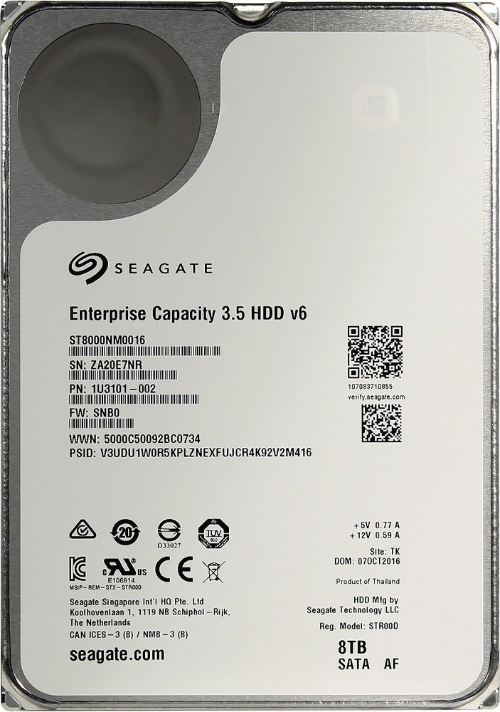Жесткий диск Seagate Enterprise Capacity (ST8000NM0016) 8000Gb