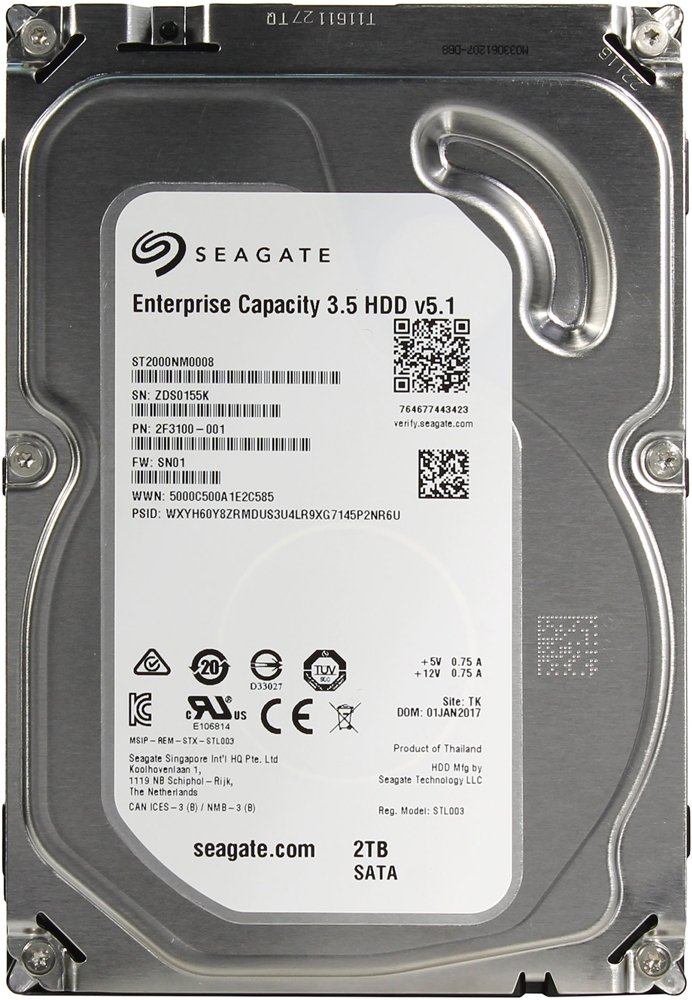 Жесткий диск Seagate Enterprise Capacity 3.5 v5.1 (ST2000NM0008) 2000Gb