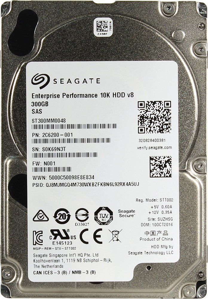 Жесткий диск Seagate Enterprise Performance 10K v.8 (ST300MM0048) 300Gb