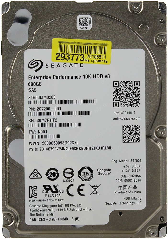 Жесткий диск Seagate Enterprise Performance 10K v.8 (ST600MM0208) 600Gb фото
