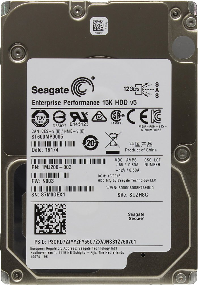 Жесткий диск Seagate Enterprise Performance 15K.5 (ST600MP0005) 600Gb