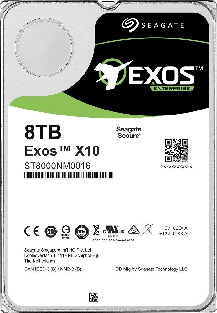 Жесткий диск Seagate Exos X10 (ST8000NM0206) 8000Gb фото