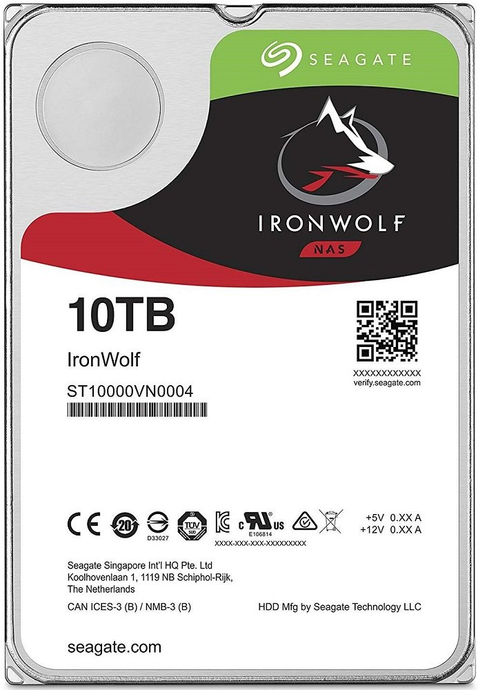 Жесткий диск Seagate Ironwolf (ST10000VN0004) 10000Gb