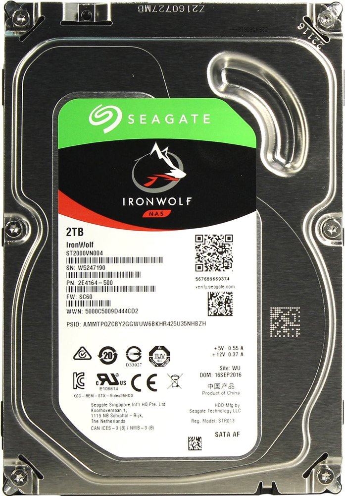 Жесткий диск Seagate IronWolf (ST2000VN004) 2000Gb
