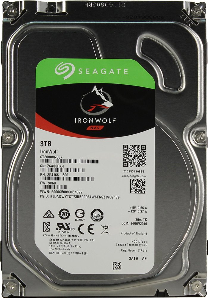 Жесткий диск Seagate IronWolf (ST3000VN007) 3000Gb