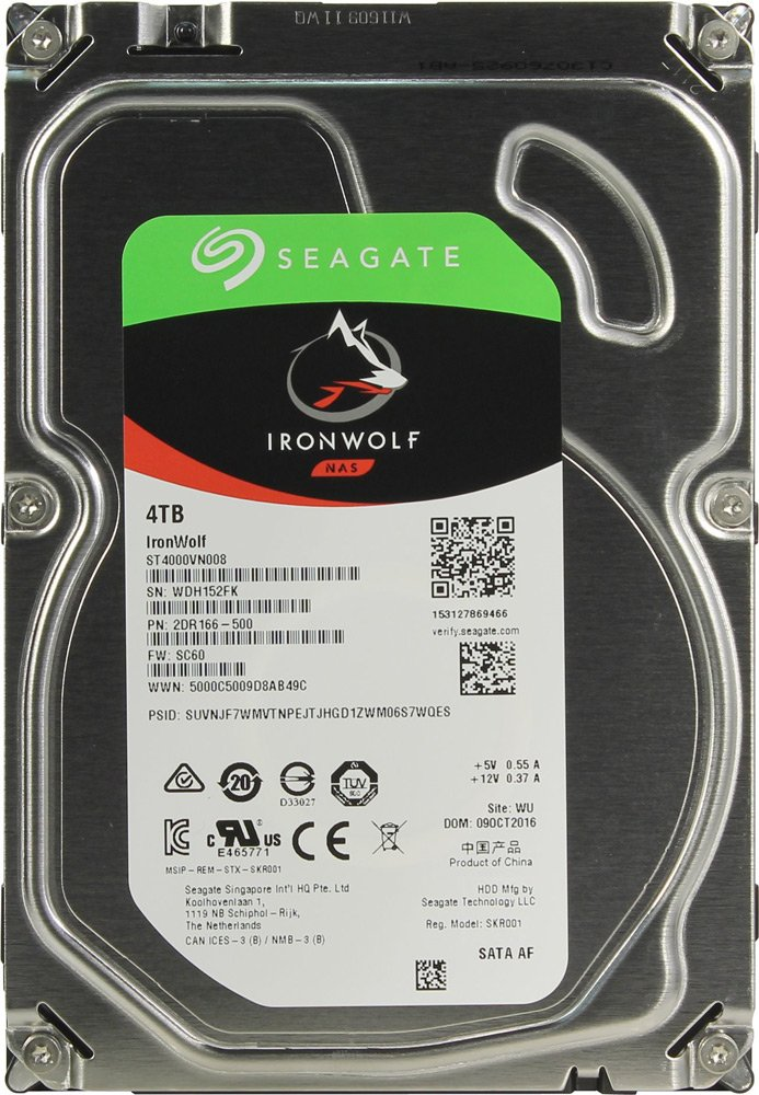 Жесткий диск Seagate IronWolf (ST3000VN007) 4000Gb