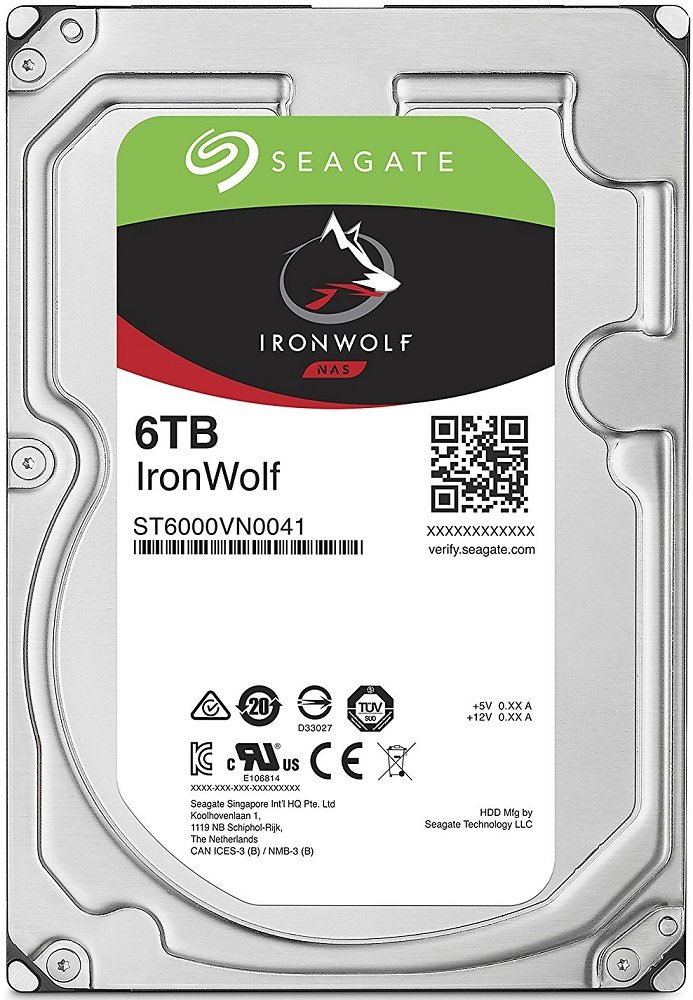 Жесткий диск Seagate Ironwolf (ST6000VN0041) 6000Gb