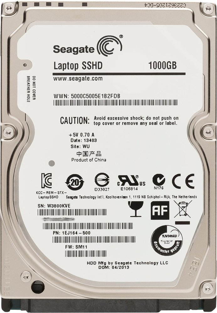 Жесткий диск Seagate Laptop SSHD STBD1000400 1000 Gb