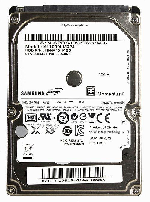 ������� ���� Seagate Momentus (ST1000LM024) 1000 Gb