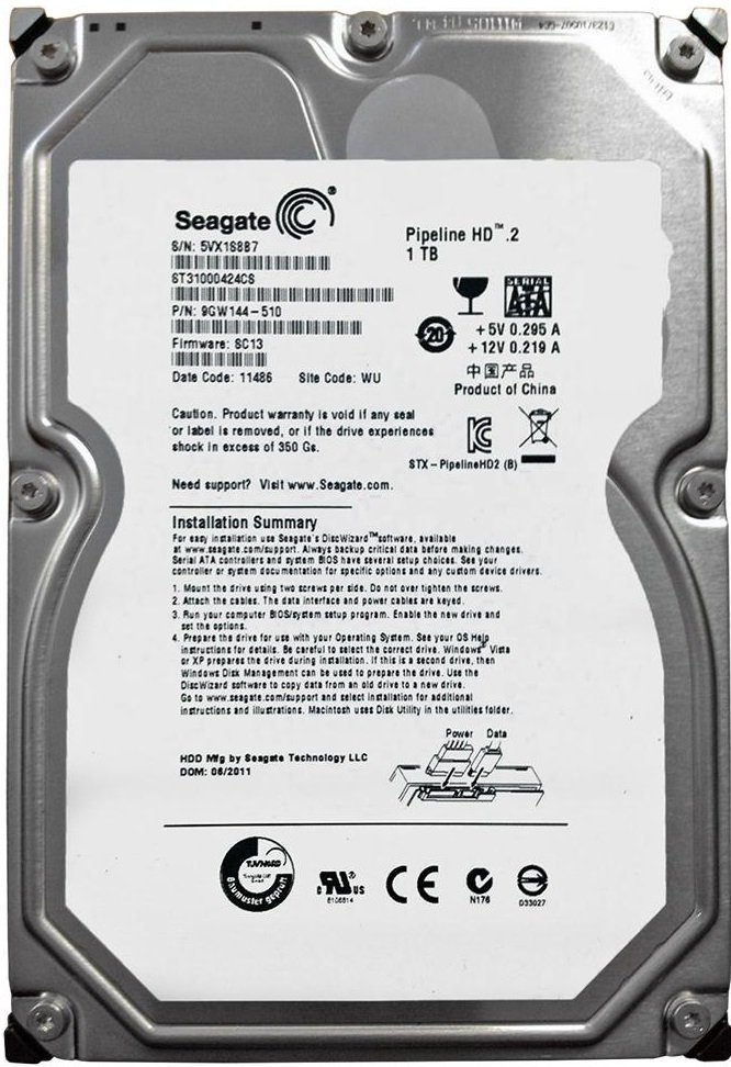 Жесткий диск Seagate Pipeline HD.2 (ST31000424CS) 1000Gb фото