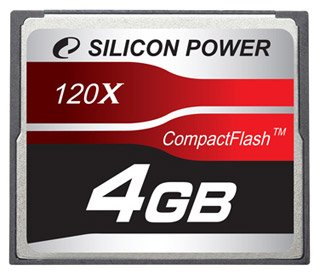 ����� ������ Silicon Power 120X Compact Flash Card 4GB