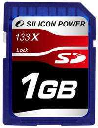Карта памяти Silicon Power 133X Secure Digital Card 1 GB