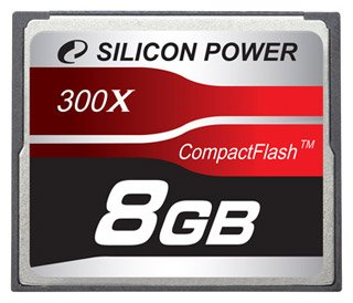 Карта памяти Silicon Power 300X Professional Compact Flash Card 8GB