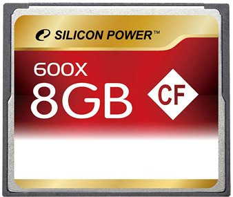 Карта памяти Silicon Power 600X Professional Compact Flash Card 8GB