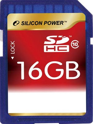 Карта памяти Silicon Power SDHC 16GB Class 10 (SP016GBSDH010V10)