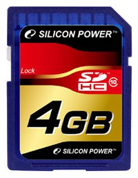Карта памяти Silicon Power SDHC Class10 4 GB