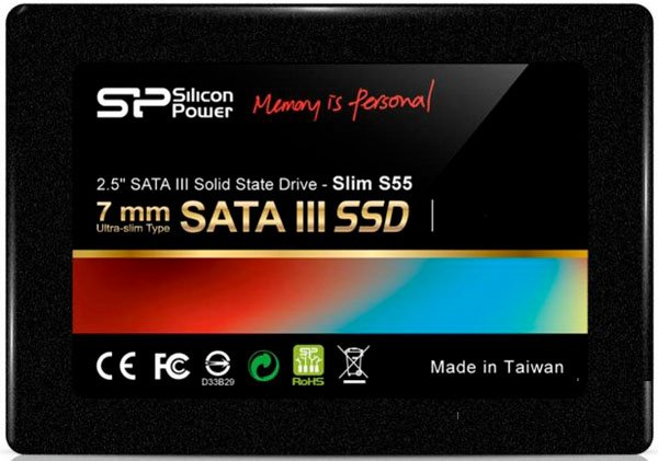 Жесткий диск SSD Silicon Power Slim S55 (SP060GBSS3S55S25) 60 Gb