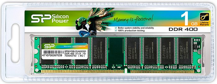 Модуль памяти Silicon Power SP001GBLDU400O02 DDR PC3200 1Gb