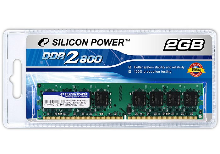 Модуль памяти Silicon Power SP002GBLRU800S02 DDR2 PC6400 2Gb