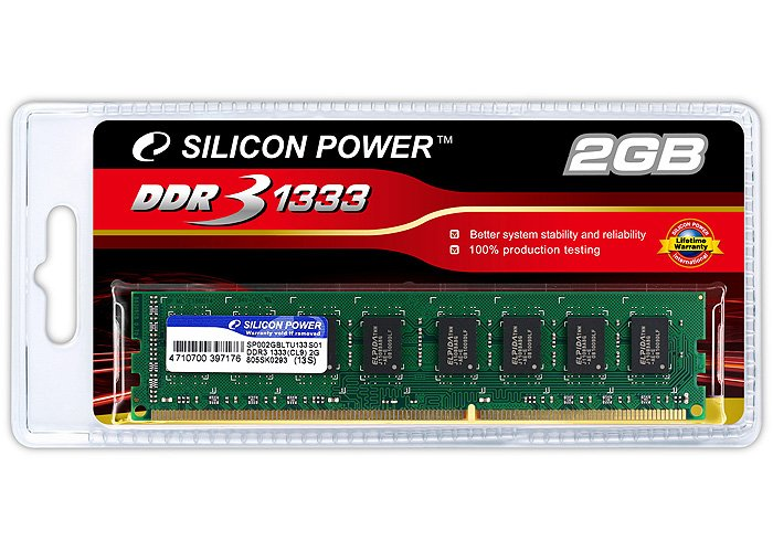 Модуль памяти Silicon Power SP002GBLTU133S01 DDR3 PC10600 2Gb