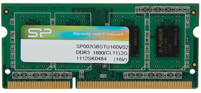 Модуль памяти Silicon Power SP002GBSTU160V02 DDR3 PC3-12800 2Gb