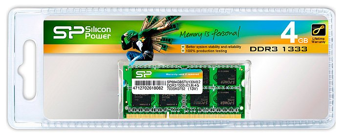 Модуль памяти Silicon Power SP004GBSTU133V02 DDR3 PC10600 4Gb