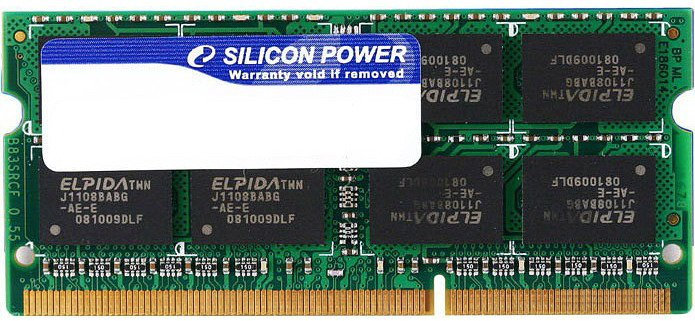 Модуль памяти Silicon Power SP008GBSTU133N02 DDR3 PC10600 8Gb