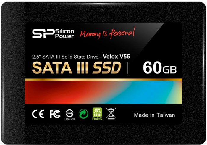 Жесткий диск SSD Silicon Power Velox V55 (SP060GBSS3V55S25) 60 Gb фото