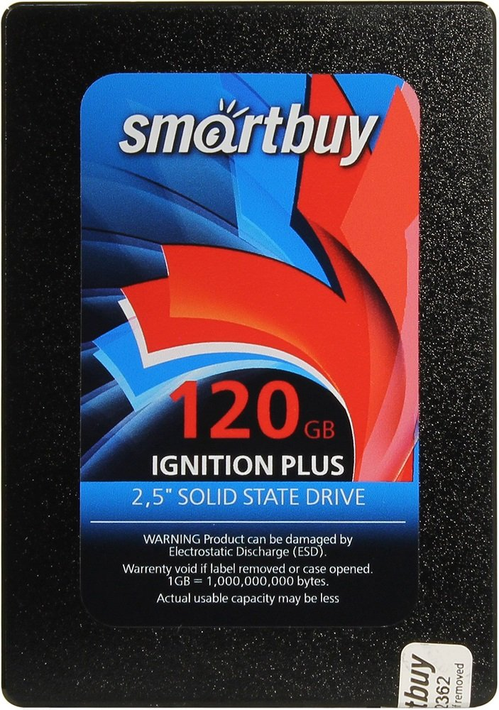 Жесткий диск SSD SmartBuy Ignition Plus (SB120GB-IGNP-25SAT3) 120Gb