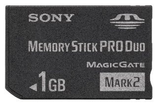 Карта памяти Sony Memory Stick Pro Duo 1 GB MSMT1G