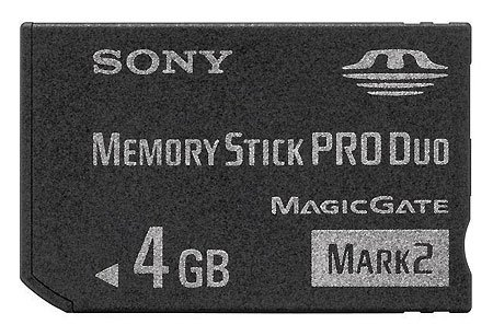 ����� ������ Sony Memory Stick PRO Duo 4Gb MS-MT4G/2NT