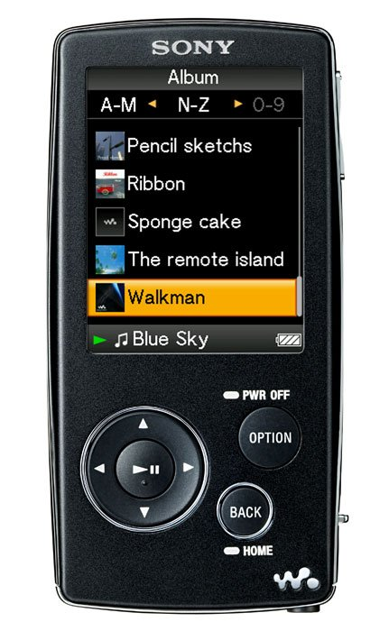 Flash - плеер Sony Walkman NWZ-A815B