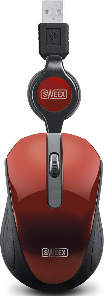 ������������ ���� Sweex Pocket Mouse (MI182) Red