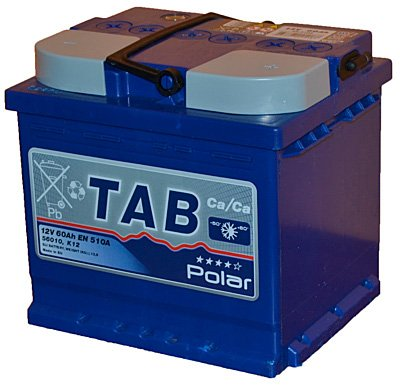 Аккумулятор TAB Polar Blue R+ (60Ah) low фото