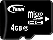 Карта памяти Team MicroSDHC 4GB Class 6 + SD adapter