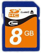 ����� ������ Team SDHC Class 4 Card 8GB