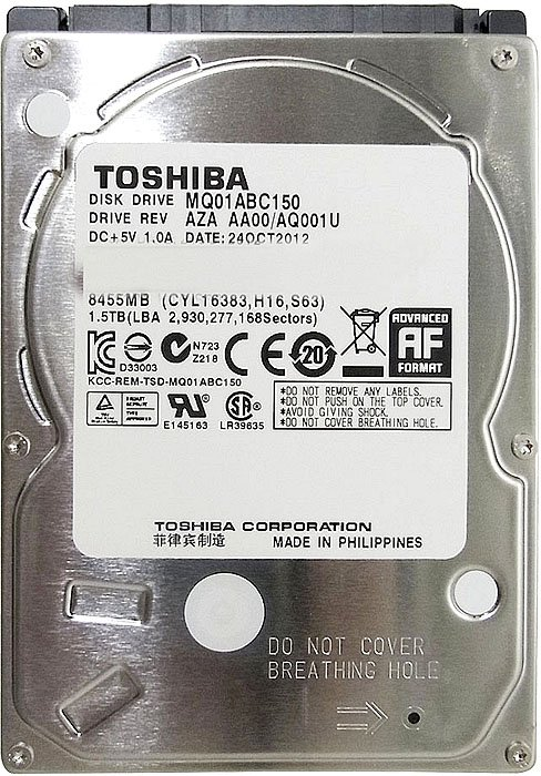 ������� ���� Toshiba Aquarius (MQ01ABC150) 1500 Gb