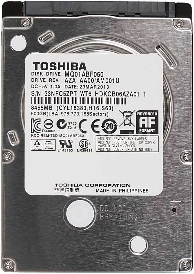 Жесткий диск Toshiba Mobile Thin MQ01ABF050M 500 Gb