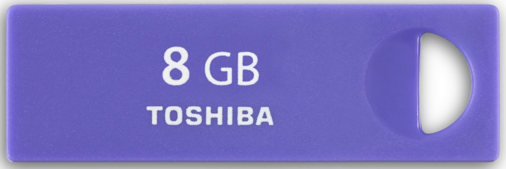 USB-���� ���������� Toshiba TransMemory-Mini-Purple 8GB (THNU08ENSPURP/BL5)