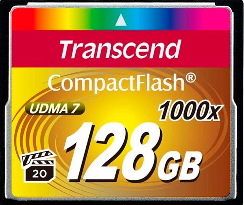 Карта памяти Transcend 1000x CompactFlash Ultimate 128Gb (TS128GCF1000) фото