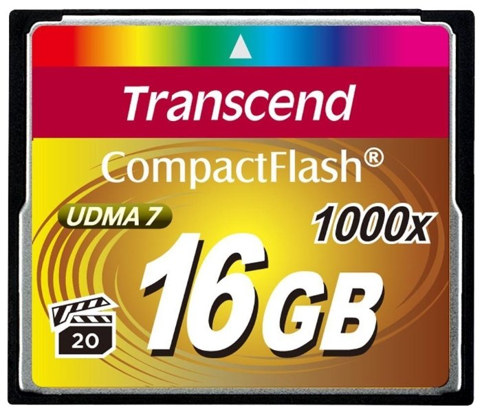 Карта памяти Transcend 1000x CompactFlash Ultimate 16Gb (TS16GCF1000)