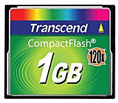 Карта памяти Transcend 120x CompactFlash Card 1GB TS1GCF120