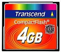 Карта памяти Transcend 133x CompactFlash Card 4GB TS4GCF133