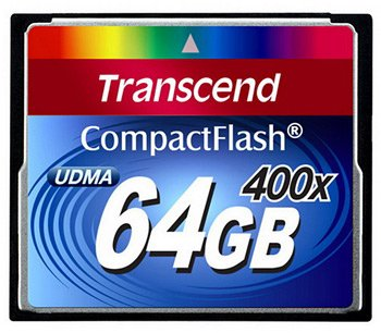 Карта памяти Transcend 400x Compact Flash 64Gb (TS64GCF400)