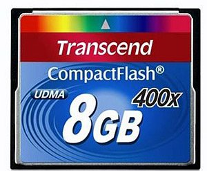Карта памяти Transcend 400x Compact Flash 8Gb (TS8GCF400) фото